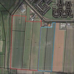 17,25 ha. Bollengrond (11,9 ha.eigendom en 5,35 ha. pacht) in Den Helder
